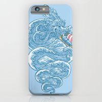 iPhone & iPod Case featuring hello little dragon by Peter Kramar