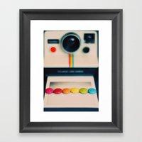 over the pola rainbow Framed Art Print