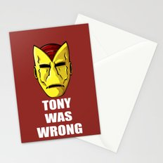 Tony Was Wrong Stationery Cards