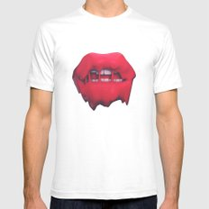 Melted  Mens Fitted Tee White SMALL