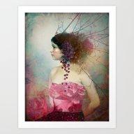 Portrait In Pastell 2 Art Print