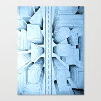 bird's-eye view Canvas Print