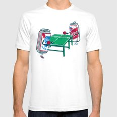 Beer Pong Mens Fitted Tee SMALL White