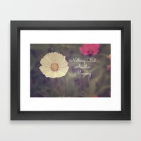 Nothing But Another Memory Framed Art Print