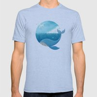 Whale & Seagull (US and THEM) Mens Fitted Tee Athletic Blue SMALL
