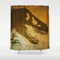 Jurassic Minimalist Shower Curtain