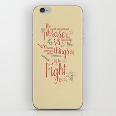 Grace Hopper sentence - I always try to Fight That - Color version iPhone & iPod Skin