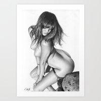 Nude Girl 1 Art Print
