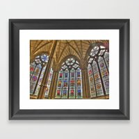 Windows Of Westminster A… Framed Art Print