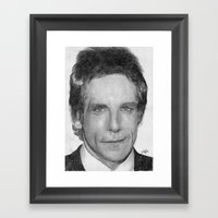 Ben Stiller Traditional Portrait Print Framed Art Print