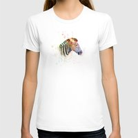 zebra T-shirts featuring Zebra by emegi
