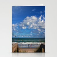 Cocoa Beach In Florida Stationery Cards