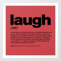 Definition LLL - Laugh 4 Art Print