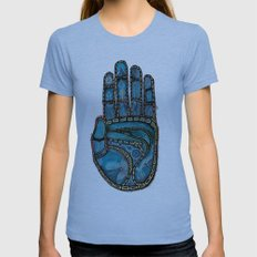The Hand Of (Free)Time Womens Fitted Tee Athletic Blue SMALL