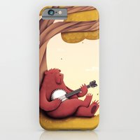 iPhone & iPod Case featuring A Bear and his Banjo by Natalie Smith