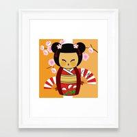 Kokeshi Ai  Framed Art Print