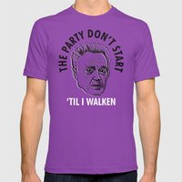 Party Don't Start 'til I… Mens Fitted Tee Ultraviolet SMALL