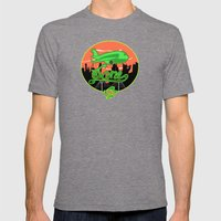 Planes & Jane's Mens Fitted Tee Tri-Grey SMALL
