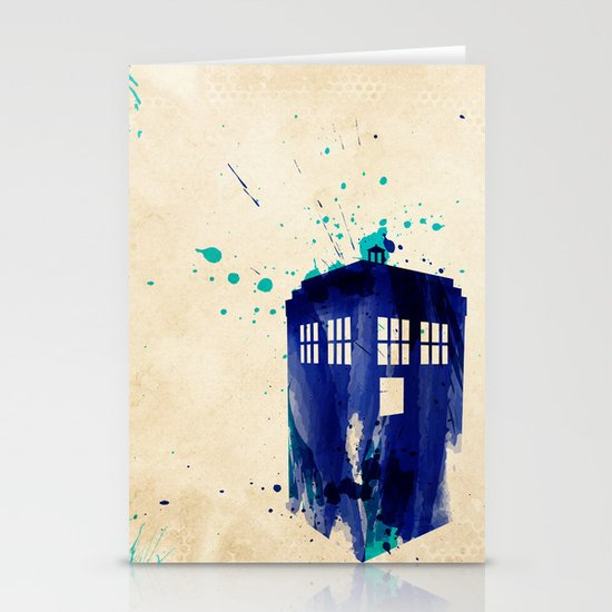 Doctor Who TARDIS Rustic Stationery Card