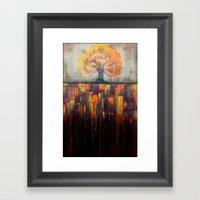 Tree In Autumn Landscape… Framed Art Print