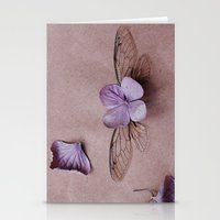 Cicada :: Hydrangea Stationery Cards
