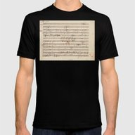 Mozart Mens Fitted Tee Black SMALL