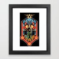 Epic Triforce of the Gods Framed Art Print
