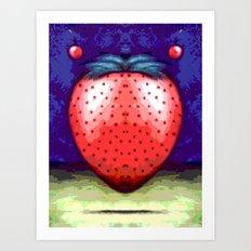JAM BERRY BLUES Art Print