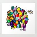 jelly worms Art Print