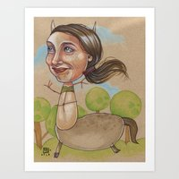HAPPY CENTAUR Art Print