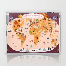 Worldwide map for kids. Laptop & iPad Skin