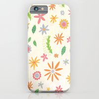 iPhone & iPod Case featuring Colourful Daisies by Emma Randall