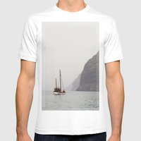 Sailboat Mens Fitted Tee White SMALL