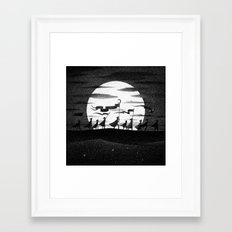 Drawlloween 2015: Moon Framed Art Print