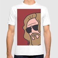 Pop Icon - The Dude Mens Fitted Tee White SMALL