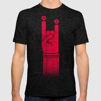 Rock U! Mens Fitted Tee Tri-Black SMALL