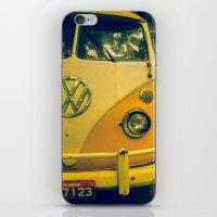 Yellow_kombi iPhone & iPod Skin
