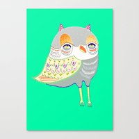 Owl Illustration, Owl Pr… Canvas Print