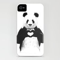 iPhone Cases featuring All you need is love by Balazs Solti