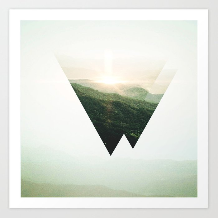 Sunday's Society6 | Triangle photo art print