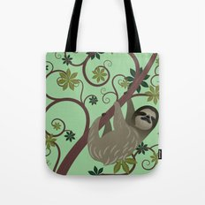 Sloth in a Tree Tote Bag