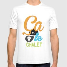 Ca va le chalet ? Mens Fitted Tee White SMALL