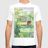 Alex's Attic Mens Fitted Tee White SMALL