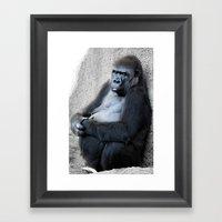 Gorilla Print Framed Art Print