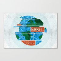 Tower of Babel (by Amy Hardy) Canvas Print