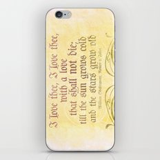 I love thee, I love thee - ROMEO & JULIET - SHAKESPEARE LOVE QUOTE iPhone & iPod Skin
