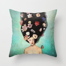 The Botanist's Daughter Throw Pillow