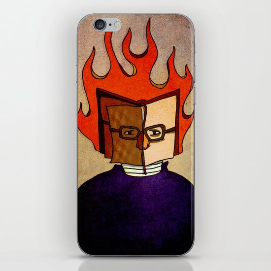 Prophets of Fiction - Ray Bradbury /Fahrenheit 451 iPhone & iPod Skin