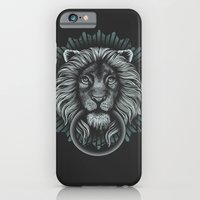 iPhone & iPod Case featuring Stone Lion by Rachel Caldwell