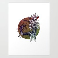 Bouquet De Nerfs Art Print
